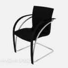 Black Armrest Office Chair V1