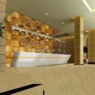 Wspólne wnętrze lobby hotelowego