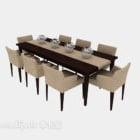 Stort matbord modern stil