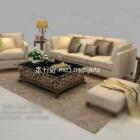 Nowoczesne krzesło stołowe z beżowej skóry