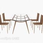 كرسي طاولة الحداثة بسيط