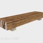 Wood Bench Park Furniture