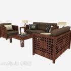 Chiński zestaw mebli drewnianych Sofa