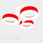 Czerwony żyrandol w kształcie koła