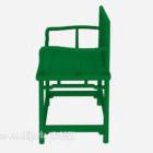 كرسي خشب معدني مطلي باللون الأخضر