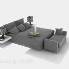 Double Bed Common Style With Daybed
