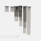 Ljuskrona Drop Rektangulära glasmöbler