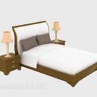 Completo letto moderno in legno massello