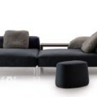 أريكة عصرية مع كرسي