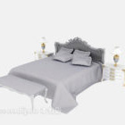 European Bed With Daybed Nightstand