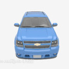 Blue Chevrolet Car