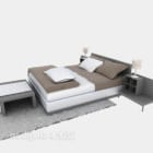 Modern Style Bed With Daybed Carpet