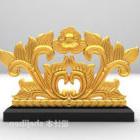 Decorativo a forma di floreale in oro