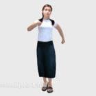 Business Girl White Shirt Character