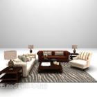 المواد الجلدية الأوروبية الرئيسية أريكة