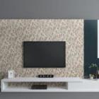 جدار تلفزيون حديث مع خزانة
