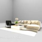Modern Light Color Sofa Full Sets