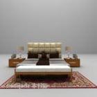 منضدة سرير خشبية حديثة