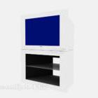 TV White Case mit Ständer