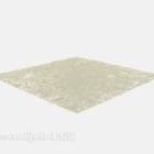 Tappeto in pelliccia di colore beige