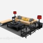مادة خشبية أريكة صينية