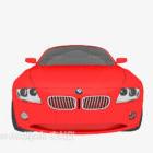 Czerwony samochód sportowy Bmw