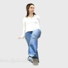 Carattere della camicia bianca delle donne