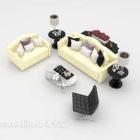 Sofa unta kulit beige ringan