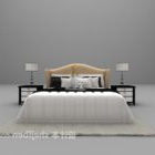 Hotel Modern Double Bed With White Daybed
