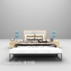 Hotel Grey Double Bed With Daybed