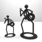 Iron Character Sculpture Set Furniture