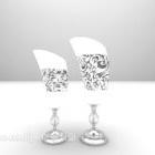 Mobili per la configurazione della lampada da tavolo in argento