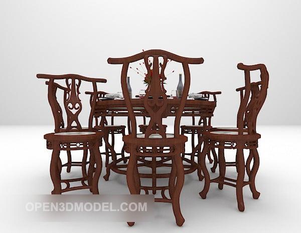 Kiinalainen retro pöytätuoli