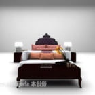 Double Bed With Daybed And Stool