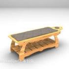 Masážní postel dřevěná