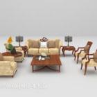 كراسي أريكة تنجيد خشبية آسيوية