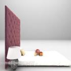 سرير مفرد مع تنجيد بجدار أسود