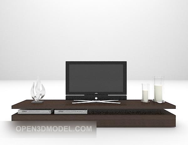 Black Tv Cabinet Furniture With Television V1