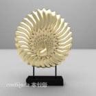 Gylden påfuglskulptur dekorativ V1