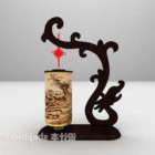 Chinese Black Dragon Wall Light