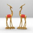 Sisätiloissa sisustus Deer muotoinen veistos