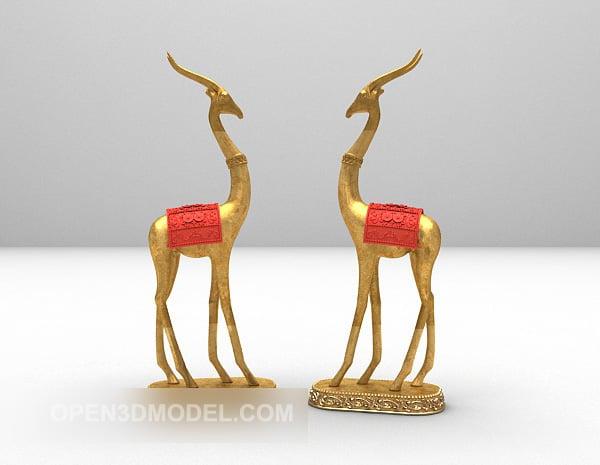 Indoor Decoration Deer Shaped Sculpture