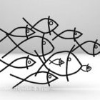 Indoor Abstract Fish Shaped Decoration