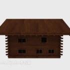 Zweistöckiges Cottage-Hausgebäude