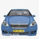سيارة زرقاء نوع سيدان