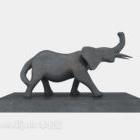 象の置物の家の装飾