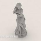 Griechische weibliche Statue