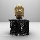 Buddha Head Statue Sculpture