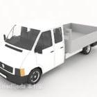 شاحنة نقل مطلية باللون الأبيض