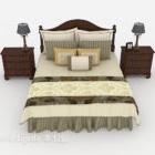 Holzbett im chinesischen Stil